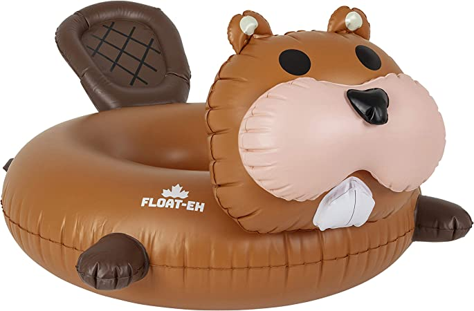 FLOAT-EH Beaver Pool Float for Adults - Lake Floaties Inspired by The North