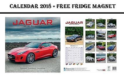 Jaguar Calendar 2018 + potencia máxima de coches imán para nevera ...