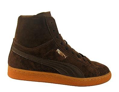 517a2f6bb712e Puma Suede Mid Classics Chocolate Brown - Marron - Chocolat