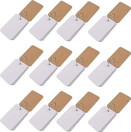 Belle Vous Tarjetas Estudio (Pack de 12) - 600 Hojas (50 Hojas en cada Tarjetas Estudio) 8,9x5,6cm (0,7cm, 110 GSM) Tarjetas de Indice con Binder Anillos para el Hogar, Escuela, Oficina: Amazon.es: