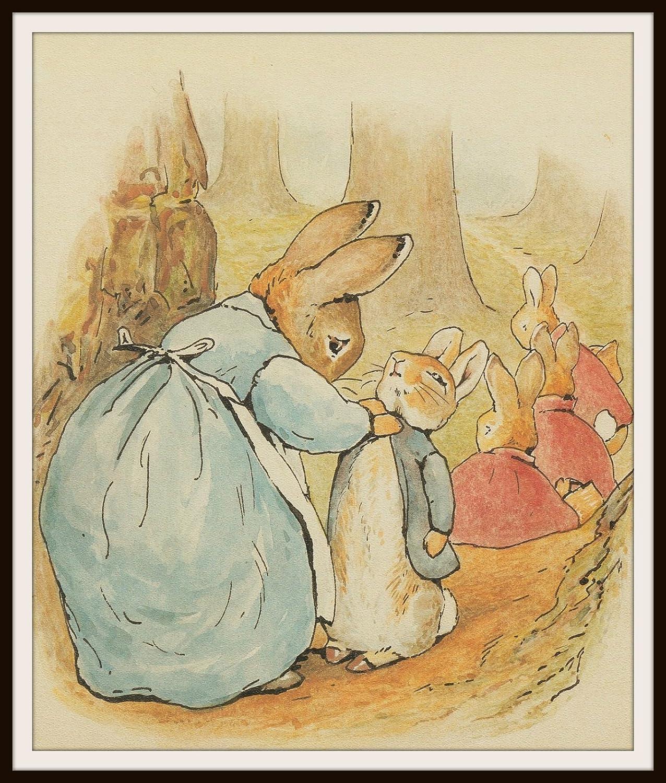Amazon.com: Set of 4 Beatrix Potter Print Reproductions, Unframed ...