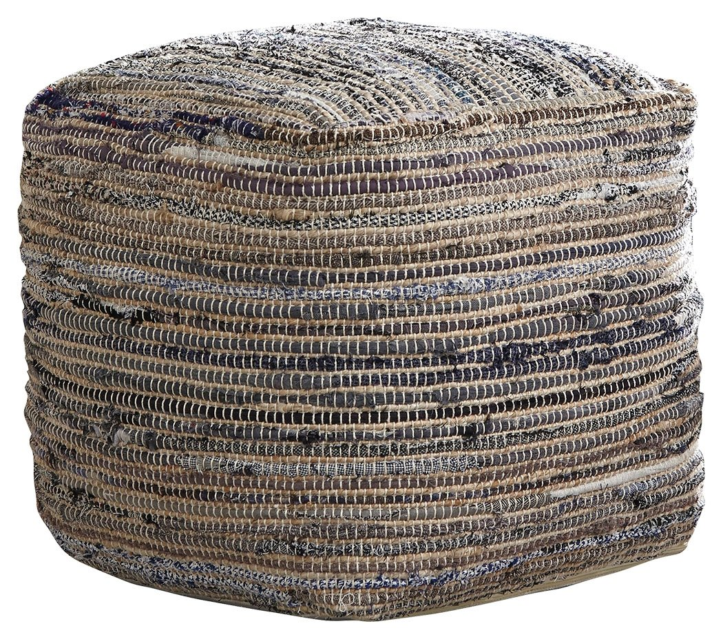 Ashley Furniture Signature Design - Absalom Pouf - Comfortable Ottoman & Footrest - Natural by Signature Design by Ashley