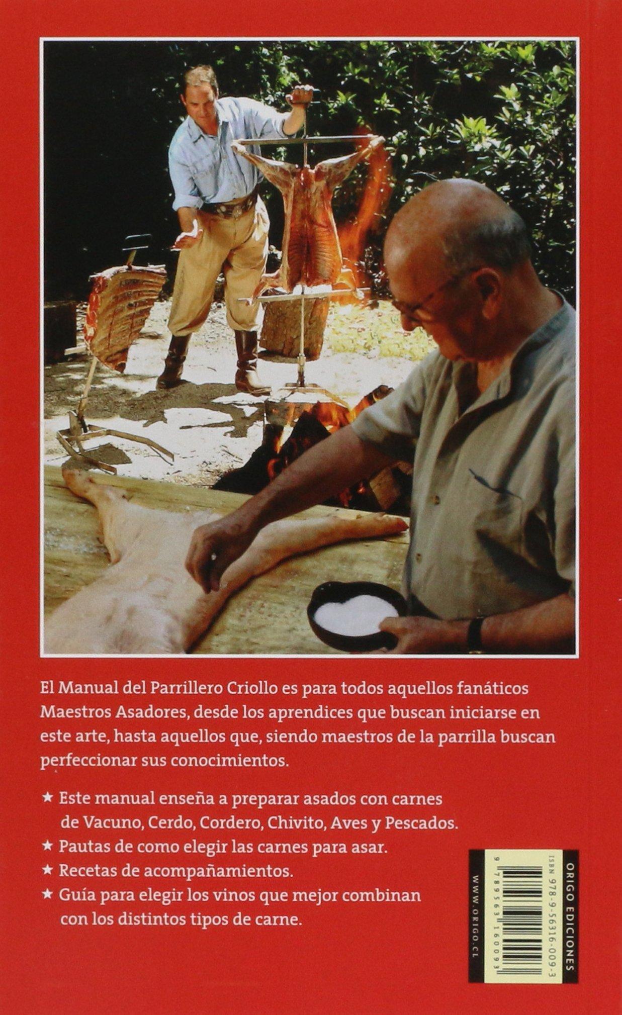 Manual Del Parrillero Criollo: MARIN ROBERTO: 9789563160093 ...