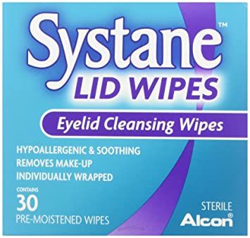 Systane Lid Wipes Eyelid Cleansing Wipes 30 Each (Pack of 2) Agrimony (Xian He Cao) - Cream (2 oz, ZIN: 428427) - 2-Pack