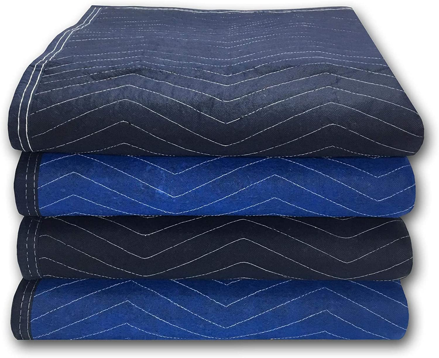 "Uboxes A0080HP04 Supreme Moving Blankets, 72"" X 80"", Blue"