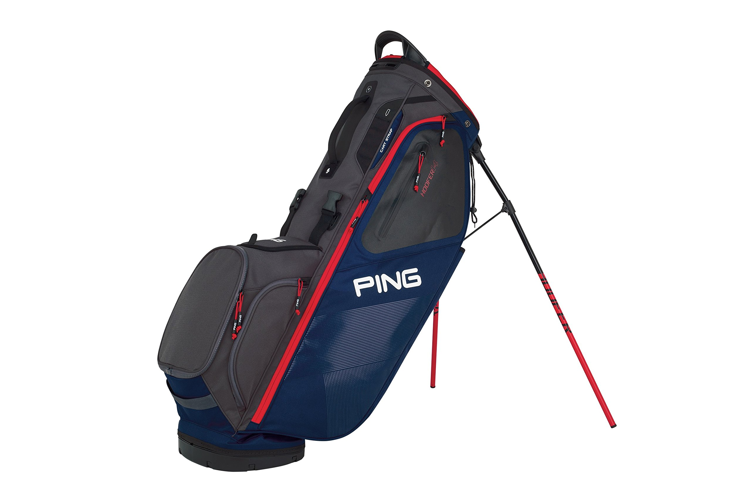 PING 2018 HOOFER 14 181 STAND GOLF BAG 06 NAVY/GRAPHITE/RED