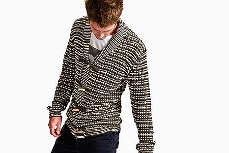 Amazon.com  Vanishing Elephant Men s Carolina Toggle Knit Sweater (Stripe)  S  Clothing 97ac6e4da