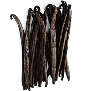 1 LB Vanilla Beans Grade A - Whole Gourmet Pods for Homemade Vanilla Extract, Baking, Brewing, Cooking, and Desserts - 16 Ounces (Tahitian)