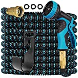 Gardguard 50ft Expandable Garden Hose Water Hose with 10 Function Nozzle and Durable 3-Layers Latex, Water Hose with Solid Fi