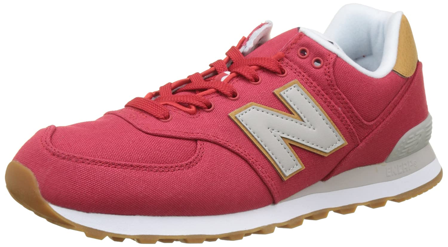 New Balance Herren ML574Y Yatch Pack Sneaker,  41.5 EU|Rot (Ml574yla)