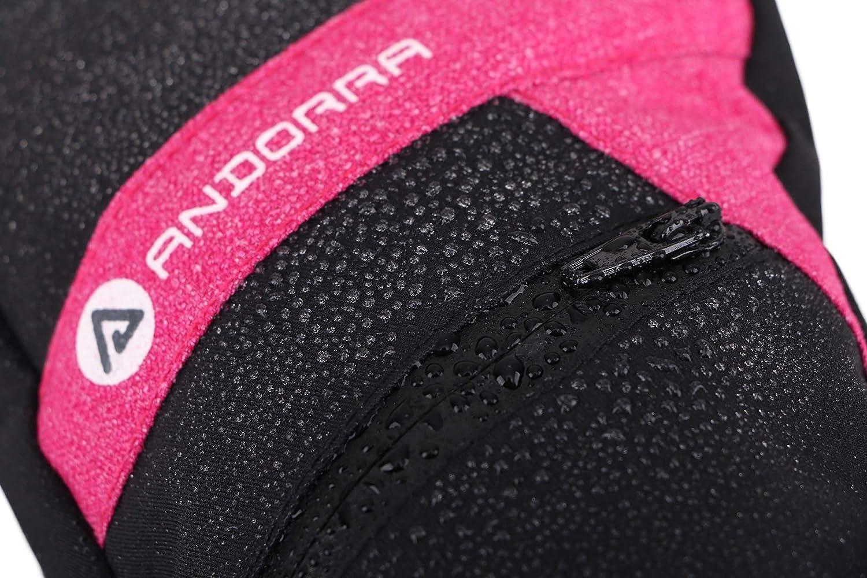 Livingston Womens C-100 Thinsulate Lining Touchscreen Ski Mittens w//Zip Pocket