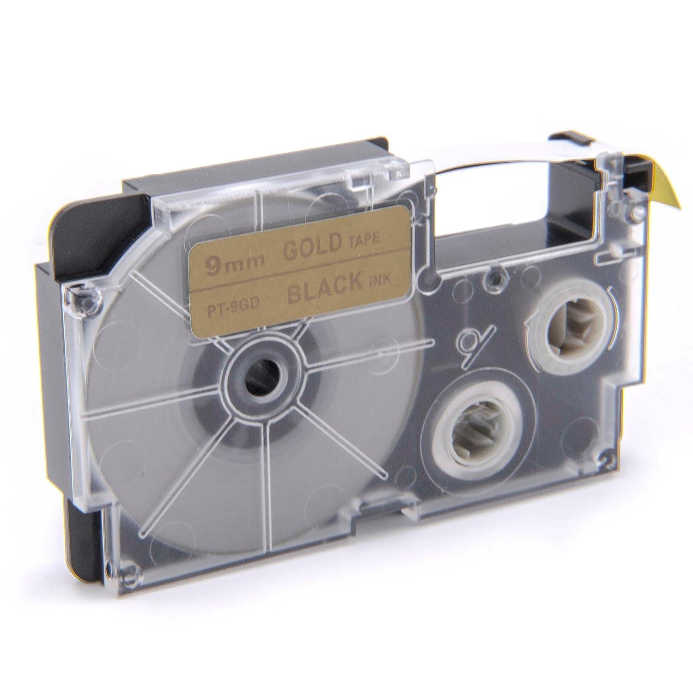 KL-P1000 wie XR-9RD KL-820 XR-9RD1. KL-C500 KL-750E KL-780 vhbw Kassette Patronen Schriftband 9mm f/ür Casio KL-7400 KL-8200 KL-8100