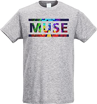 LaMAGLIERIA Camiseta Hombre Slim Muse Coloured Texture - Camiseta Rock 100% algodòn Ring Spun: Amazon.es: Ropa y accesorios