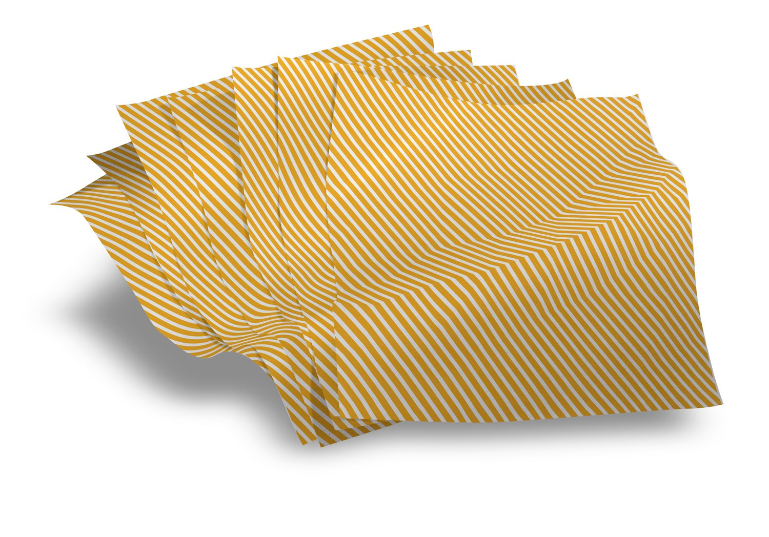 Greaseproof paper for food - Luxury retail wrap Sunshine yellow stripe 250 sheets pack (size 20'' x 13'')