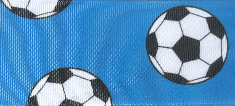 Football Dark Blue Cake Decoration Ribbon Grosgrain Wrap Wrapping Craft 1m 50mm