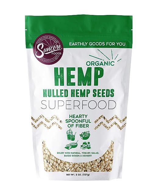 Suncore Alimentos – 100 % semillas de cáñamo orgánicas de ...