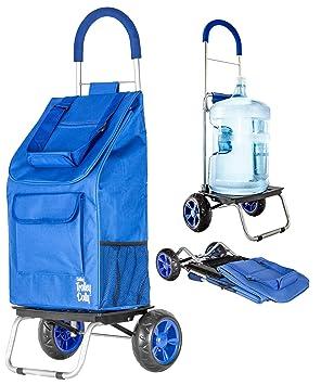 dbest products Trolley Dolly, Azul Carrito de Compras Plegable de comestibles: Amazon.es: Hogar