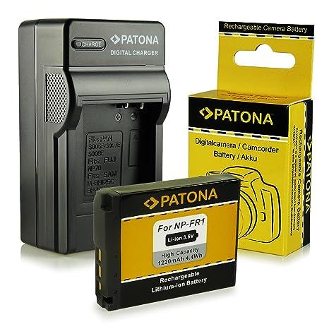 Cargador + Batería NP-FR1 para Sony Cybershot DSC-F88 | DSC-P100 | DSC-P120 | DSC-P150 | DSC-P200 | DSC-T30 | DSC-T50 | DSC-V3
