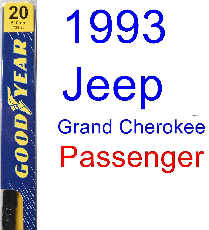 1993 Jeep Grand Cherokee (modelos de repuesto para limpiaparabrisas Set/Kit (Goodyear limpiaparabrisas blades-premium): Amazon.es: Coche y moto