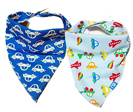 New baby bibs 2 MOTHERCARE baby boy bibs dribble bibs 0-6 mths toweling back