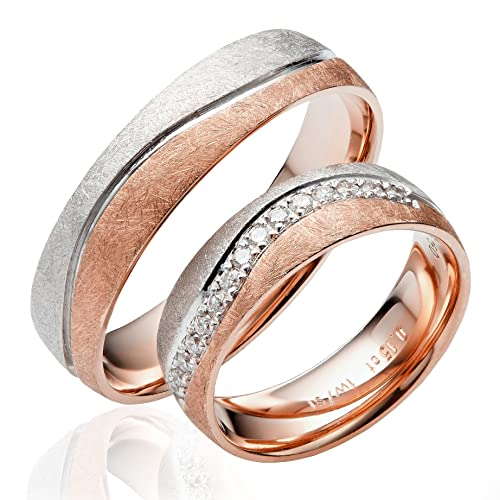 Alianzas para parejas de oro 585 (2unidades), anillos de boda,