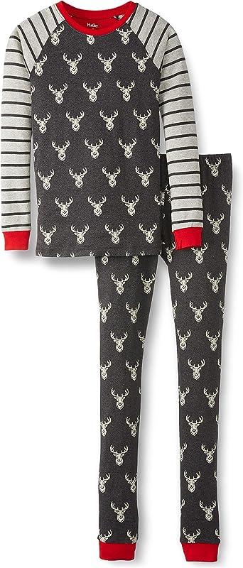 Hatley Jungen Organic Cotton Raglan Long Sleeve Printed Pyjama Set Pyjamaset