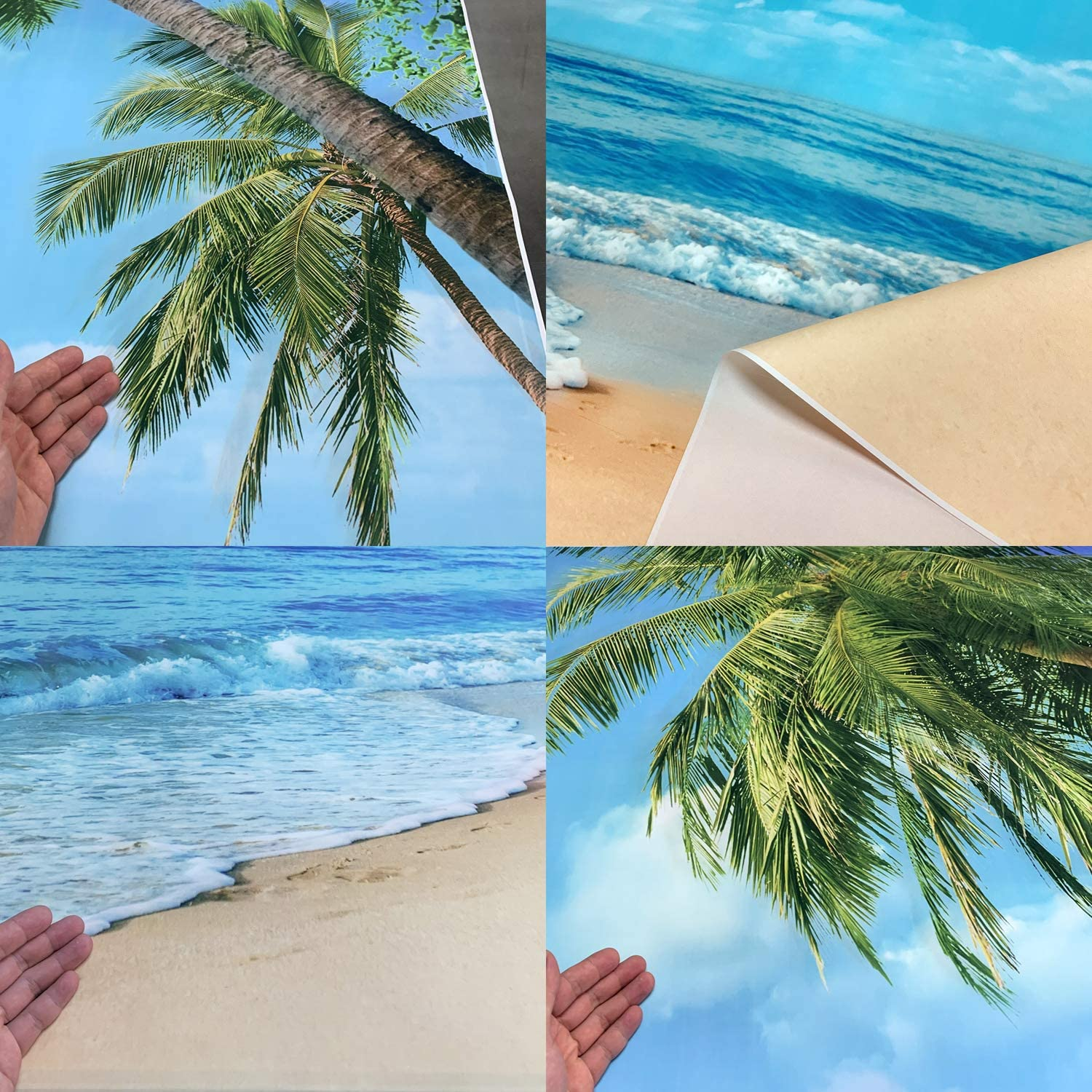 GoEoo 10x5ft Music Pineapple Vinyl Photography Background Cool Summer Vacation Sea Coconut Tree Blue Sky Wood Plank Funny Cute Creative Wedding Music Party Lover Studio Portraits Shoot Backdrop