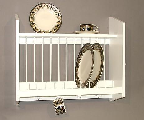 Plate Rack with Shelf White MADE IN USA & Amazon.com: Plate Rack with Shelf White MADE IN USA: Dish Racks ...