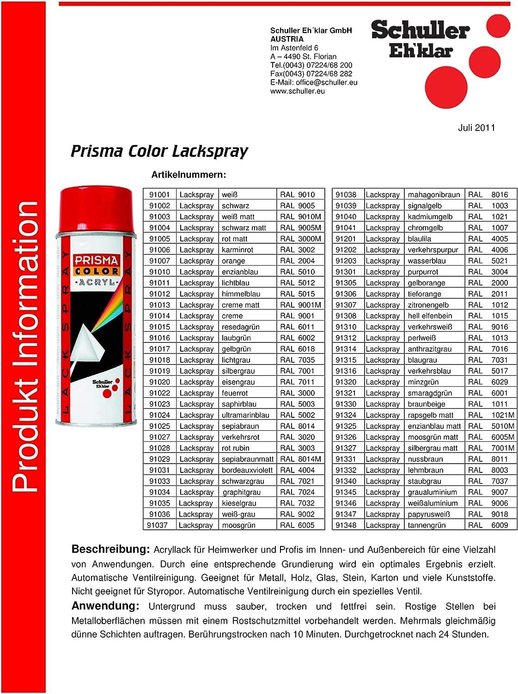 Prisma Color 91316 Lackspray Verkehrsblau Ral 5017 400 Ml Baumarkt