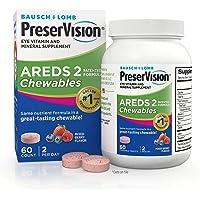 PreserVision AREDS 2 Eye Vitamin & Mineral Supplement, Contains Lutein, Vitamin C, Zeaxanthin, Zinc & Vitamin E, 60…