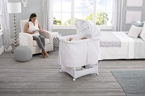 Simmons Kids Deluxe Hands-Free Auto-Glide Bedside Bassinet