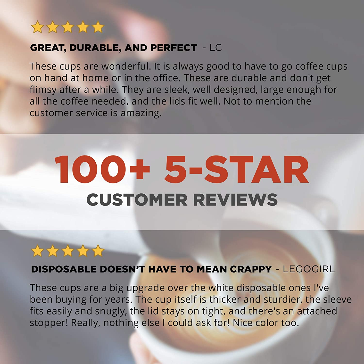 16 oz To Go Coffee Cups 90 Set Disposable Coffee Cups With Lids With Sleeves and Lids Prevent Leaks Insulated to Protect Fingers from Heat! Cold Drinks Paper Togo Hot Cup Holds Shape With Hot