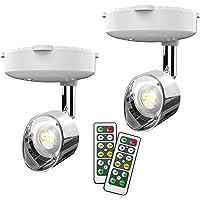 Draadloze spotlight, batterij aangedreven Accent Lights Art Lights for Paintings Mini Led Picture Light Puck Lights Wall…