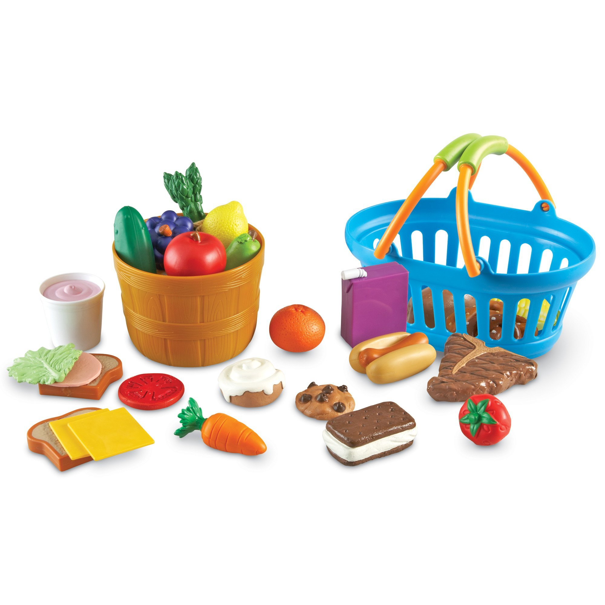 Learning Resources New Sprouts Deluxe Market Set, Play Food, Grocery Play Toy, 32 Piece Set, Ages 2+ by Learning Resources