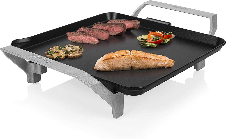 Princess Table Chef Premium 103090 Compacta, Plancha Mini Cuadrada, Alta Potencia, Negro, 28 x 28 cm: Amazon.es: Hogar