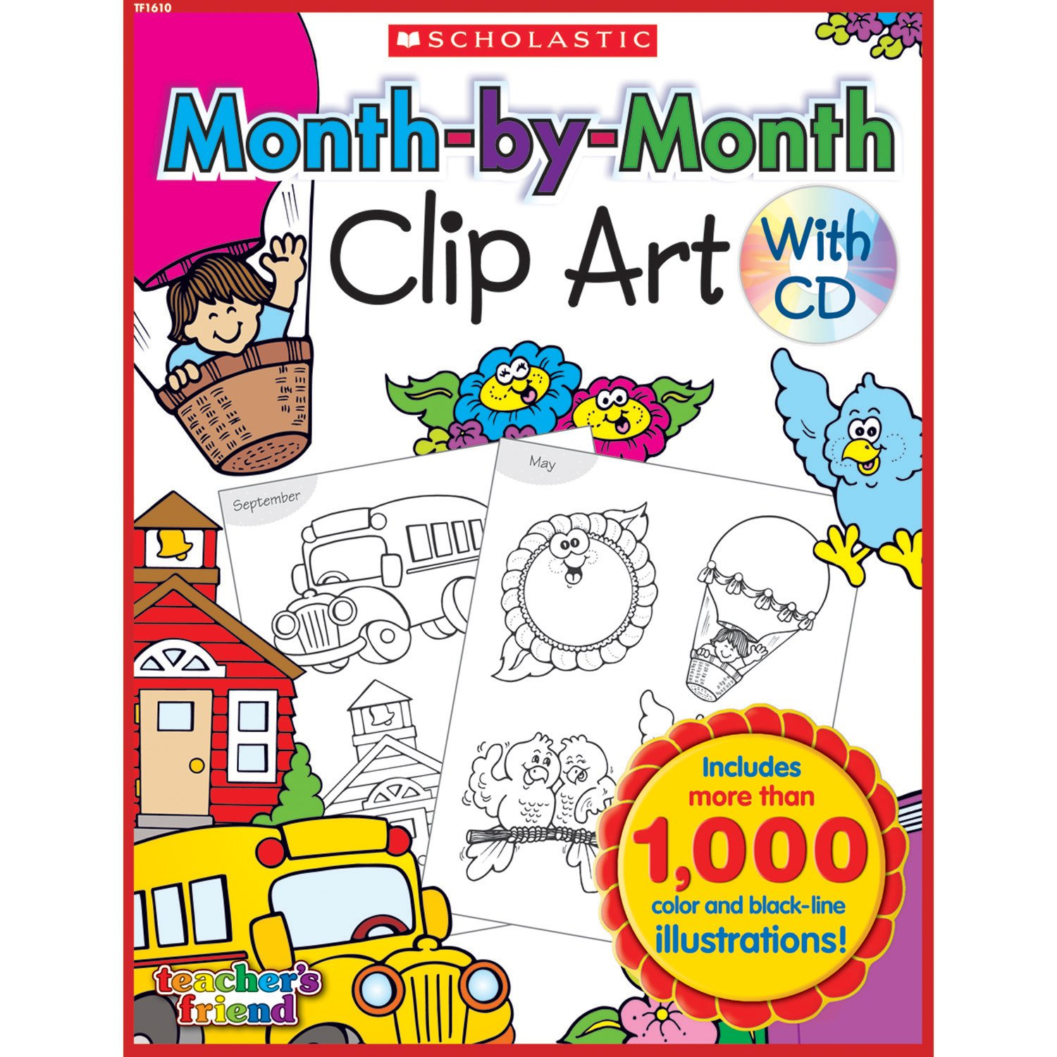 Download Month-by-Month Clip Art Book pdf