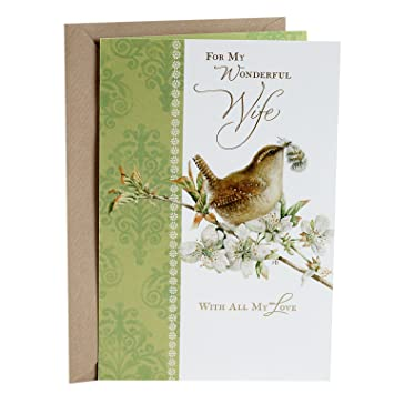 Amazon hallmark romantic easter greeting card for wife hallmark romantic easter greeting card for wife marjolein bastin natures sketchbook m4hsunfo