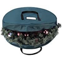 "Elf Stor Green Canvas Holiday Christmas Wreath Storage Bag For 30"" Wreaths"