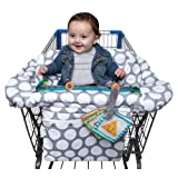 Amazon Price History for:Boppy Luxe Jumbo Dots Shopping Cart and High Chair Cover, Gray