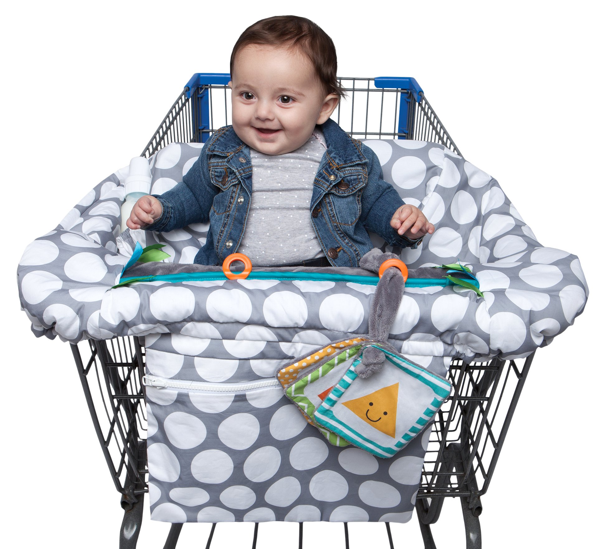 Boppy Luxe Jumbo Dots Shopping Cart and High Chair Cover ...