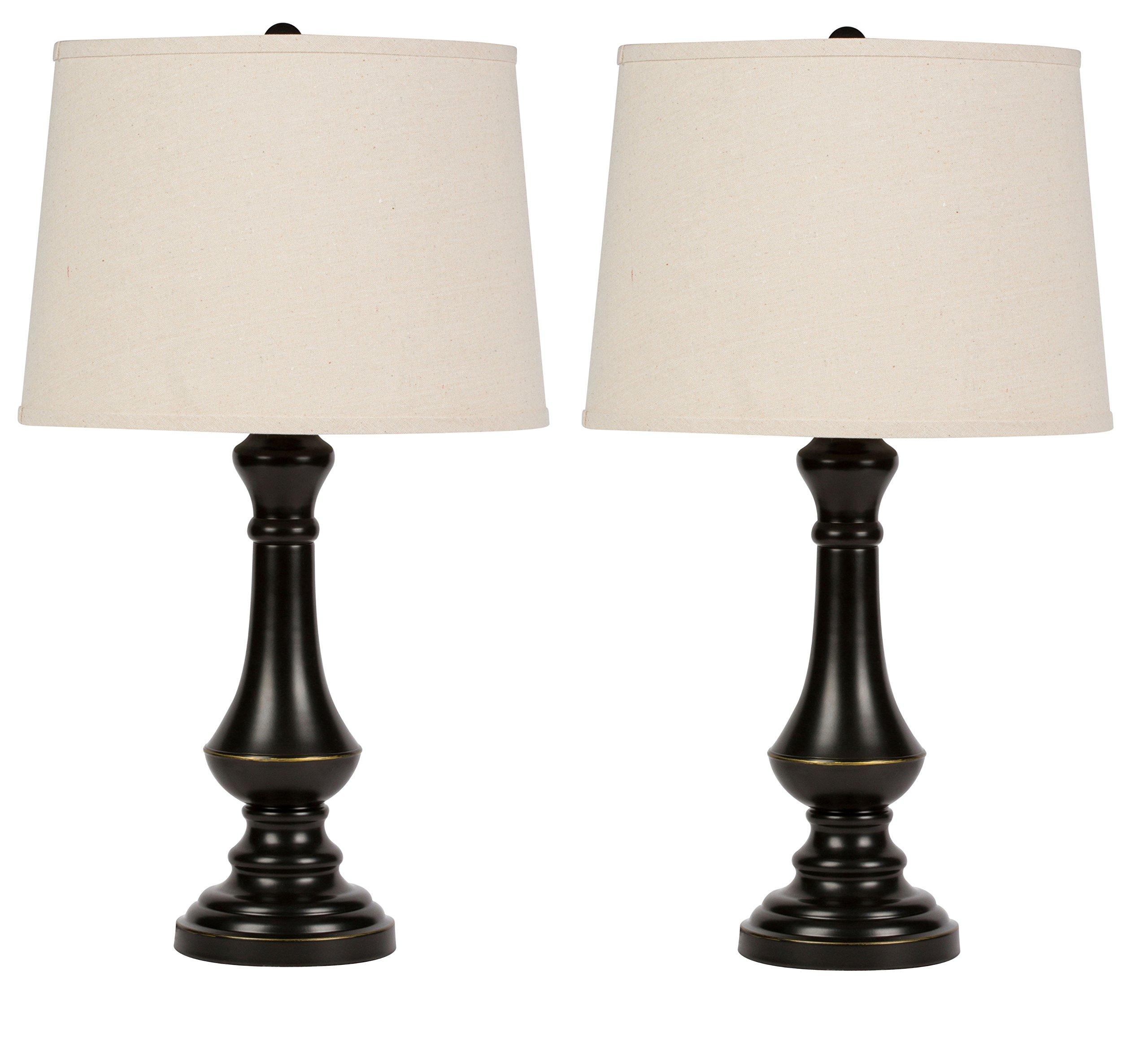 Virtue Home Cambridge Table Lamp Set - 2 Pack