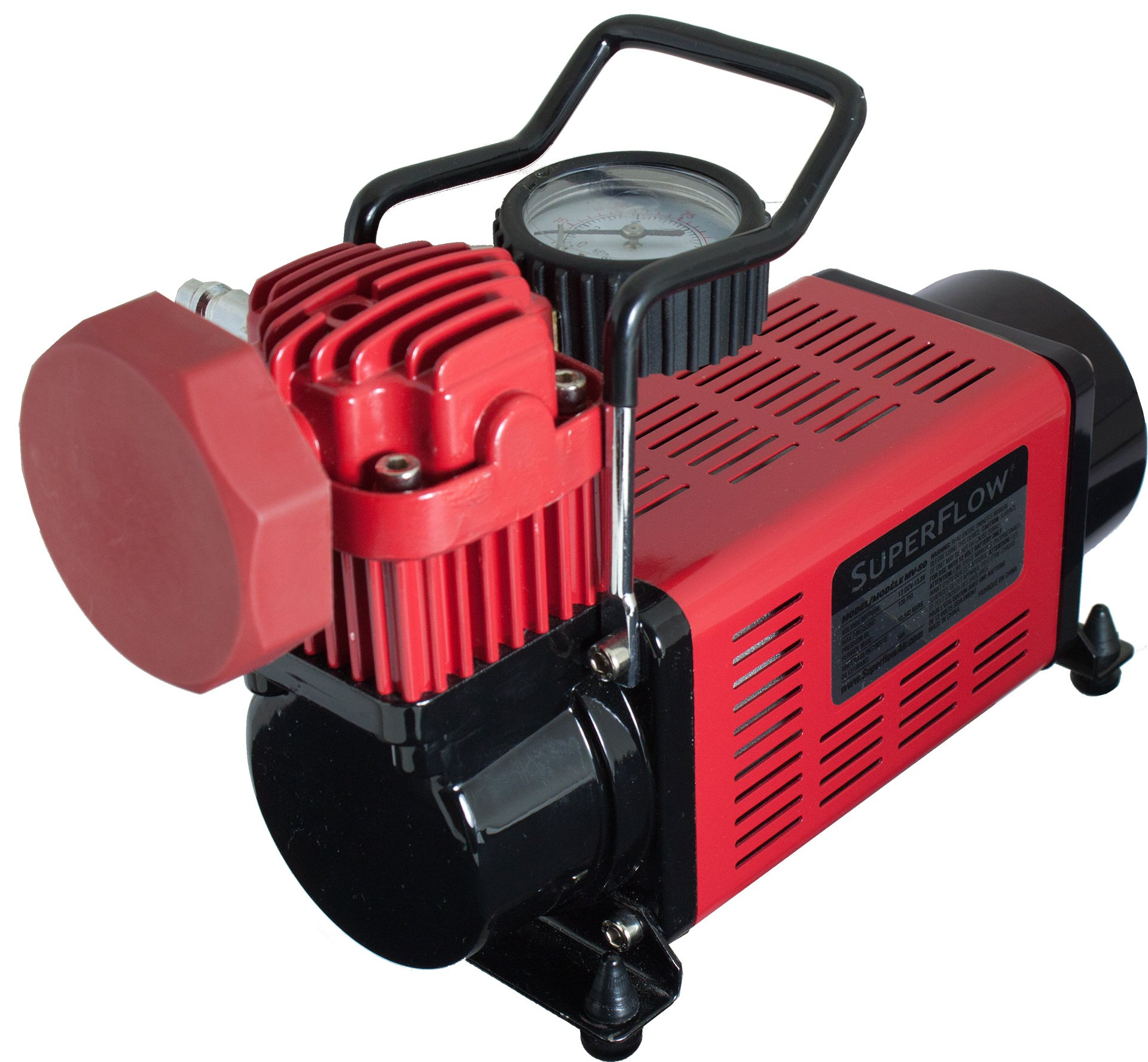 Q Industries 12 Volt Air Compressor, Portable Air Pump, 12 volt, Tire Inflator, MV-50 Air Compressor by SuperFlow for inflating full size 4 x 4, Jeep, truck, SUV and RV Tires by Q Industries (Image #5)