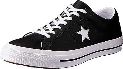 Converse One Star Ox, Sneakers Basses Homme, Noir (Black 163385c), 42 EU