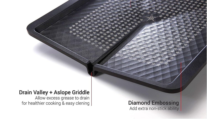 Happycall 5 Layer Diamond Nonstick BBQ Grill//Griddle Square PFOA Free