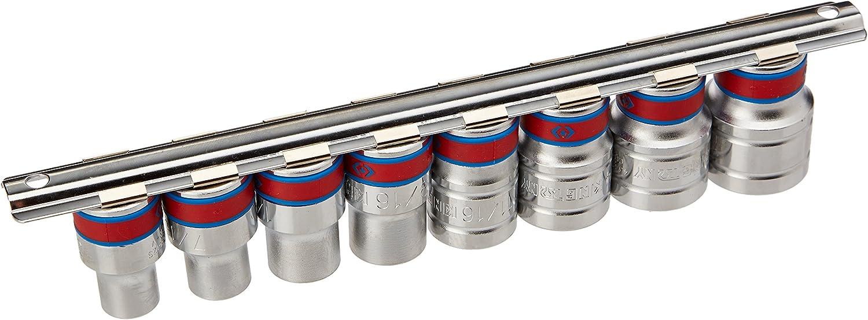 Set de 8 1//2 king tony 4510SR Coffret de Douilles Pouces sur Rail