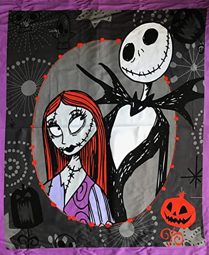 Nightmare Before Christmas Crochet Blanket.Tim Burton S The Nightmare Before Christmas Cotton Fabric Panel Officially Licensed Great For Quilting Sewing Craft Projects Wall Hangings And