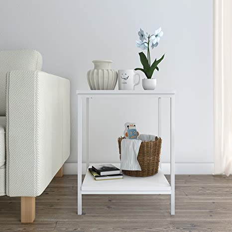 Amazon.com: Lifewit 2-tier Side Table End Table, Nightstand, Coffee ...