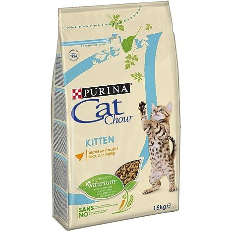 Purina Cat Chow pienso para Gato Junior, bebe, gatito con Pollo 6 ...