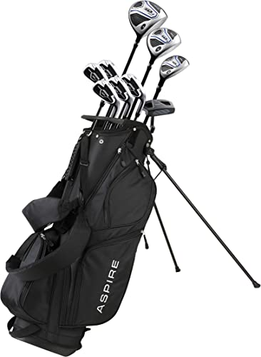 Aspire XD1 Men's Complete Golf Clubs Package Set Includes Titanium Driver