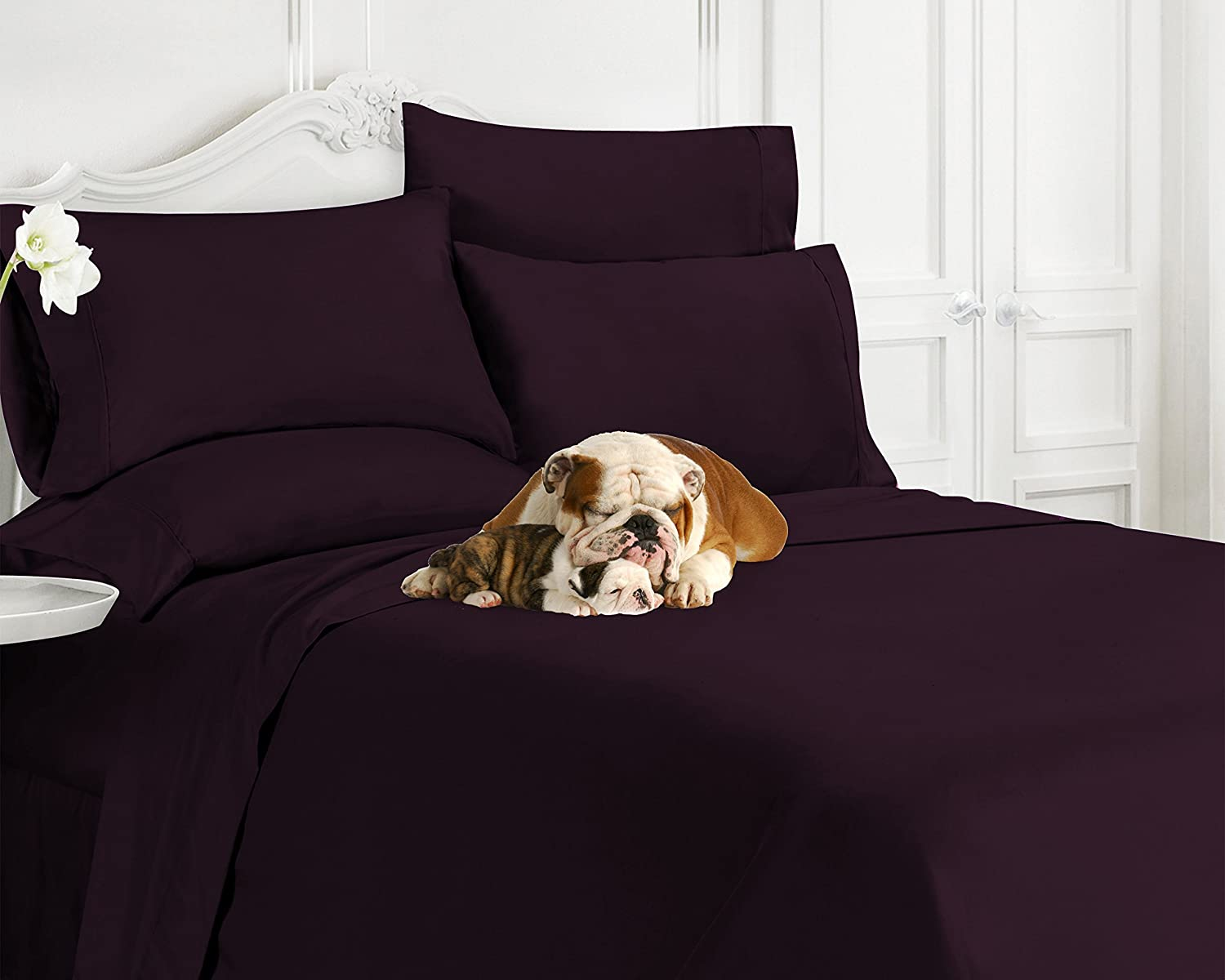 Swift Home Luxury Bedding Collection, Ultra-Soft Brushed Microfiber 6-Piece Bed Sheet Sets